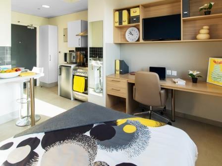 ドバイの学生寮スタジオルーム