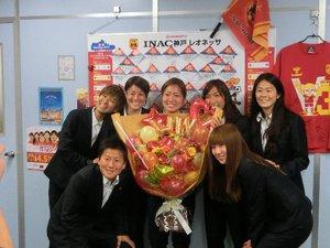【神戸支店】速報!INAC神戸選手の表敬訪問