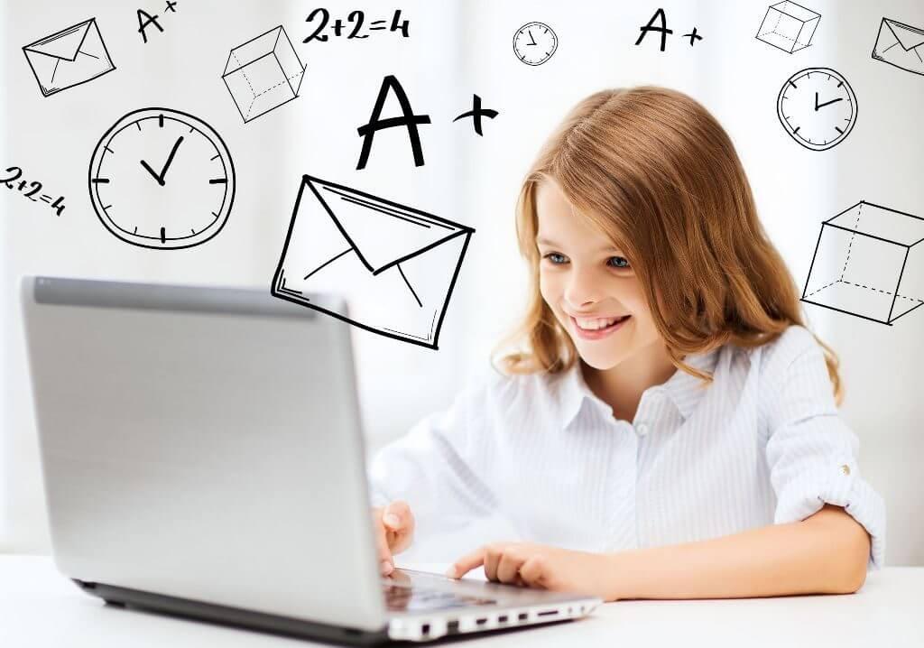 オンライン学生をする学生