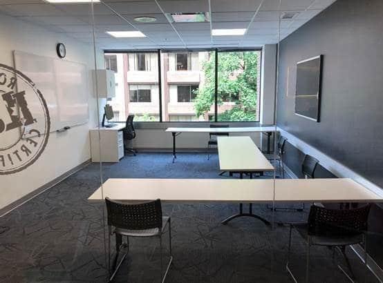 コロナウイルス対策のクラスルーム