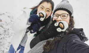 カナダ留学生活 雪あそび