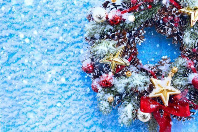 クリスマス スノー 雪 リース 留学